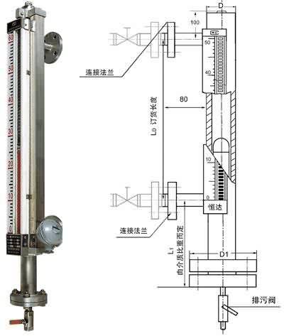 电远传磁浮子液位计